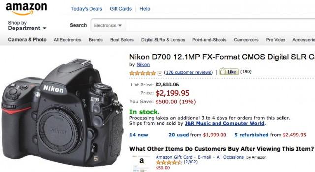 Nikon D700 Price Drop