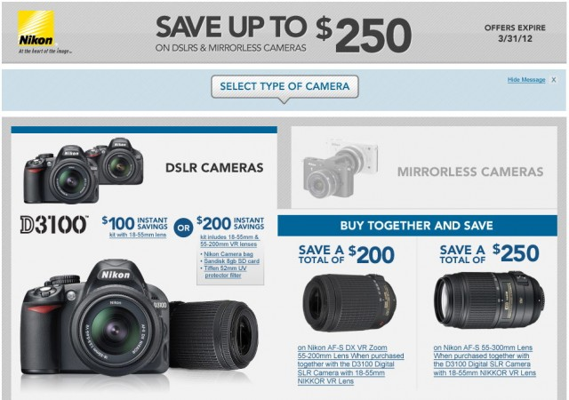 Nikon DSLR and Mirrorless Rebates