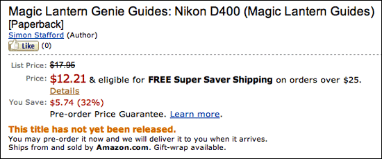Nikon D400 Book