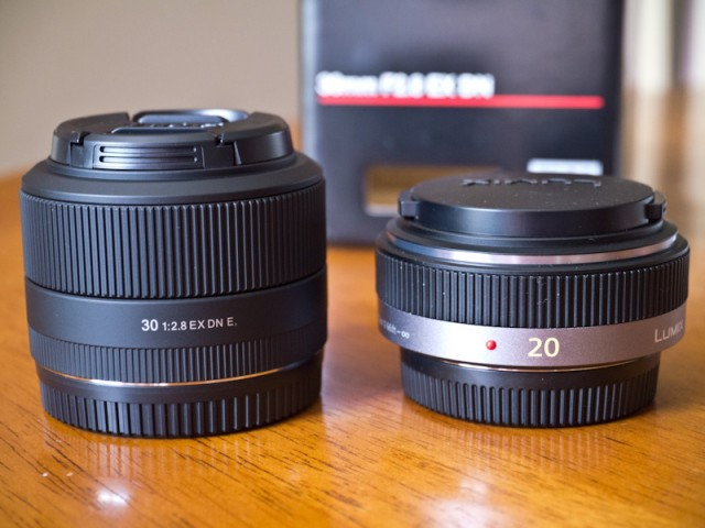 Sigma 30mm Compared to Panasonic 20mm f/1.7