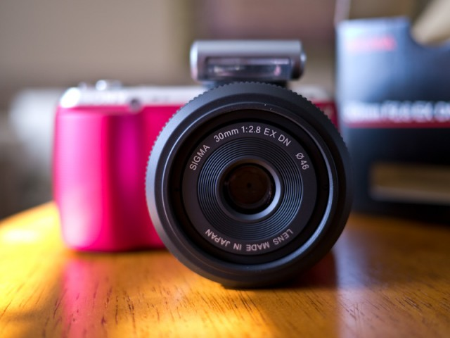 Sigma 30mm f/2.8 EX DN on Sony NEX-C3