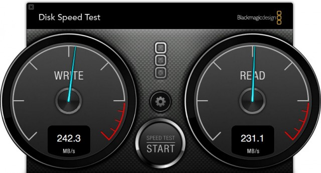 WD Thunderbolt Duo Speed Test