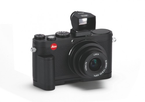 Leica X2 Black handgrip   viewfinder