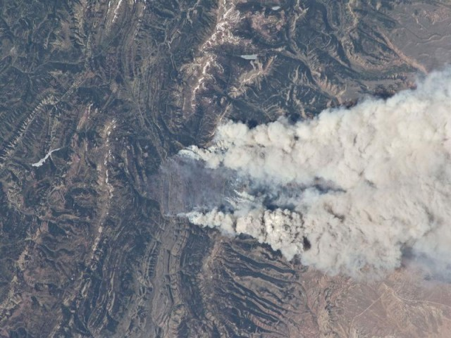 Western US Wildfires ISS
