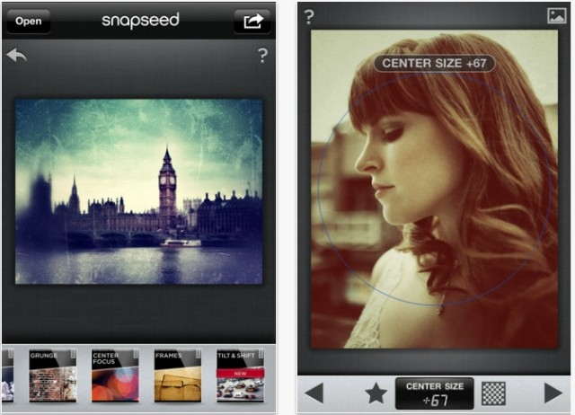 Snapseed for iOS