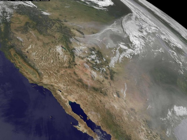 Western US Wildfire View from Space