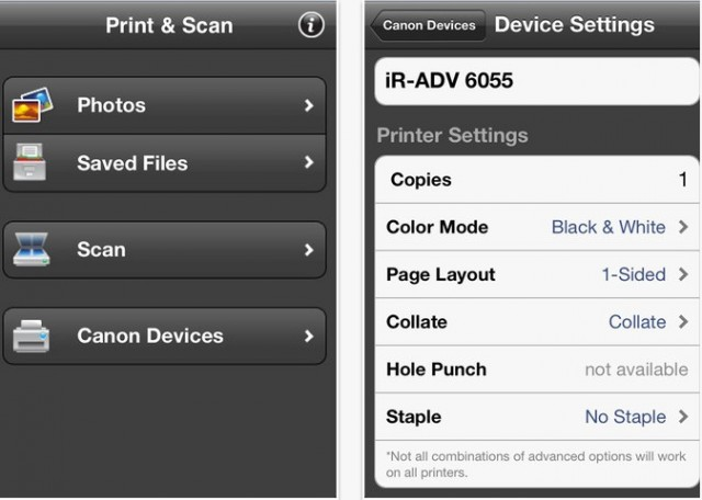 Canon Direct Print App