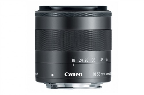 Canon EF-M 18-55mm Lens Side