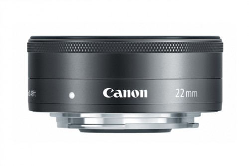 Canon EF-M 22mm Lens Side