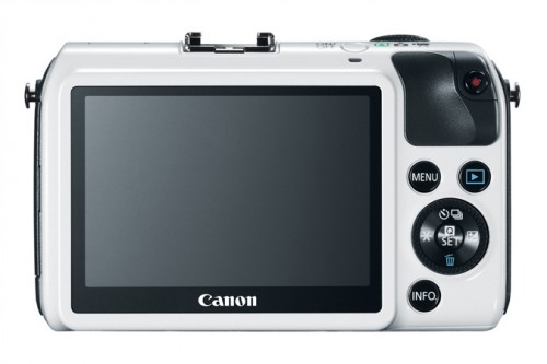 Canon EOS M White Back