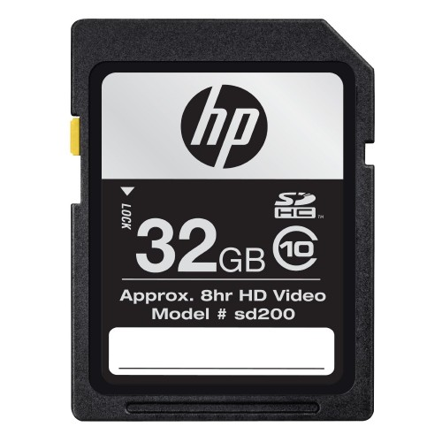HP 32GB SDHC Class 10