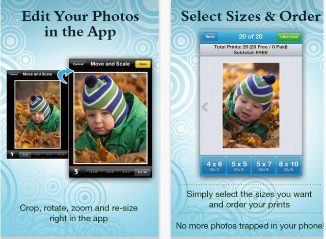 freeprints app gives you up to 1000 free prints per year