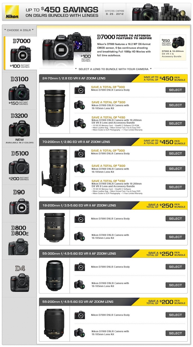 Nikon Rebates