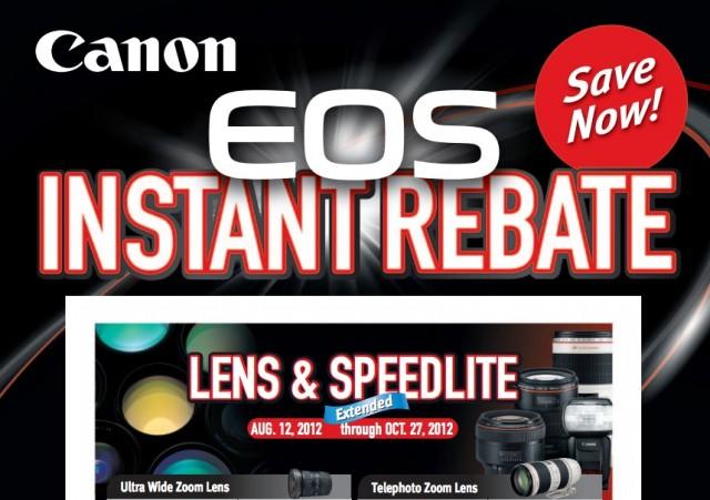 Canon Lens Speedlite Instant Rebates