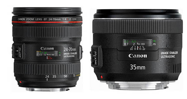Canon EF 24-70mm f/4L IS &amp; EF 35mm f/2 IS