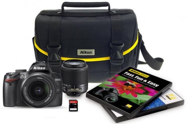 Nikon D3000 w/ 2 Lens Kit for $446.95