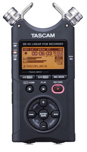 Tascam DR-40 XLR Audio Recorder for $124.99 - Cyber Monday Deal Alert