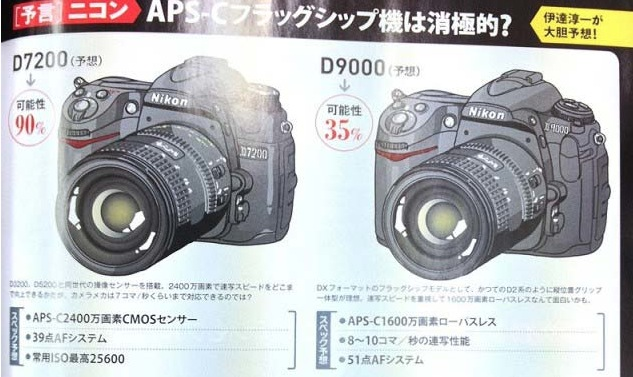 Nikon D7200 and D9000 Rumors