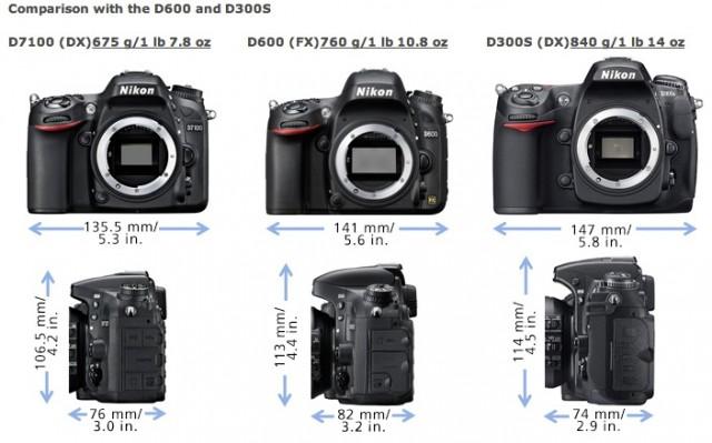 Nikon D7100 - D300s - D600 Comparison
