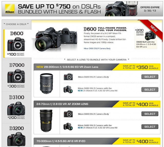 Nikon DSLR and Lens Bundles