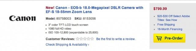 Canon EOS-b EOS 100D