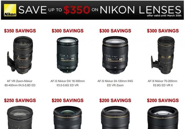 Nikon Lens Rebates