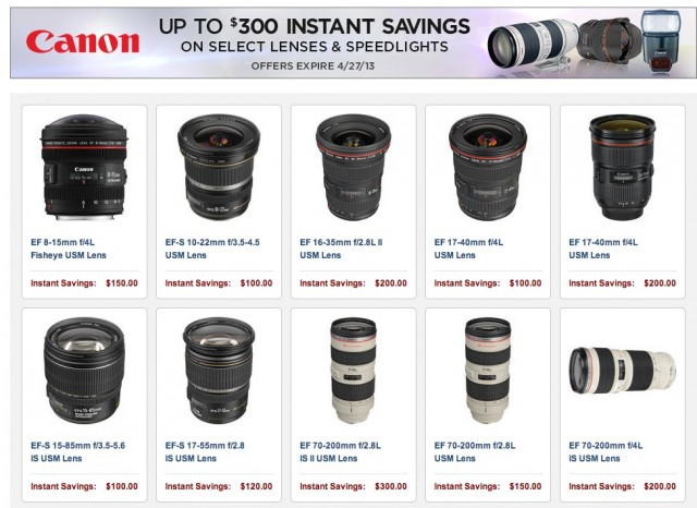 Canon Lens Rebates 2013