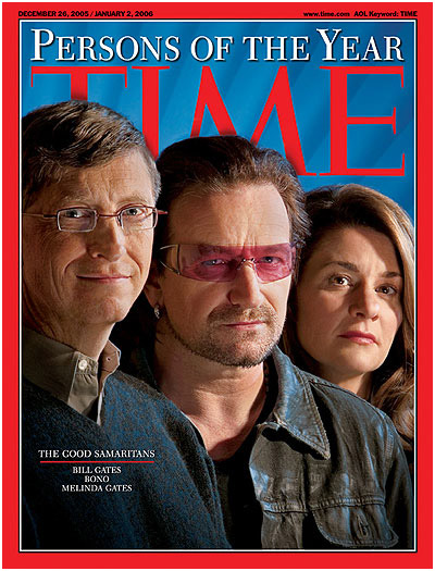 Time Cover - Bono Gates