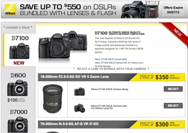 Nikon DSLR Bundle Instant Rebates
