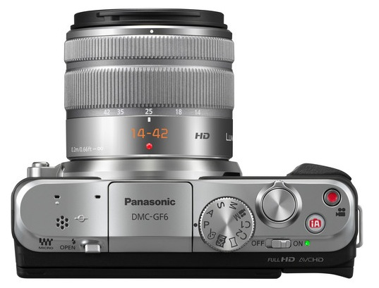 Panasonic GF6 Top