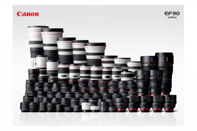 Canon 90 Million EF Lenses