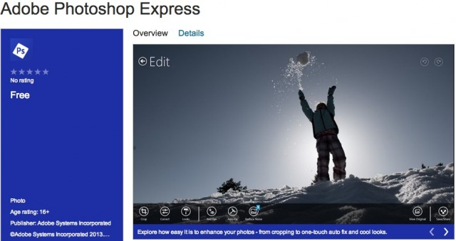 Adobe Photoshop Express Windows