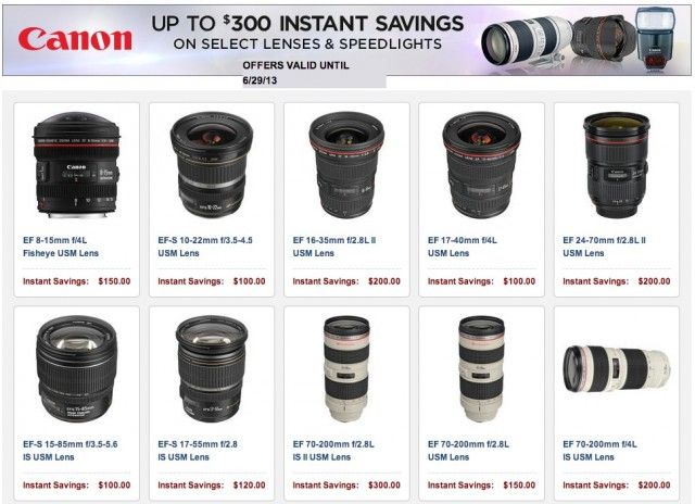 Canon Lens Rebates
