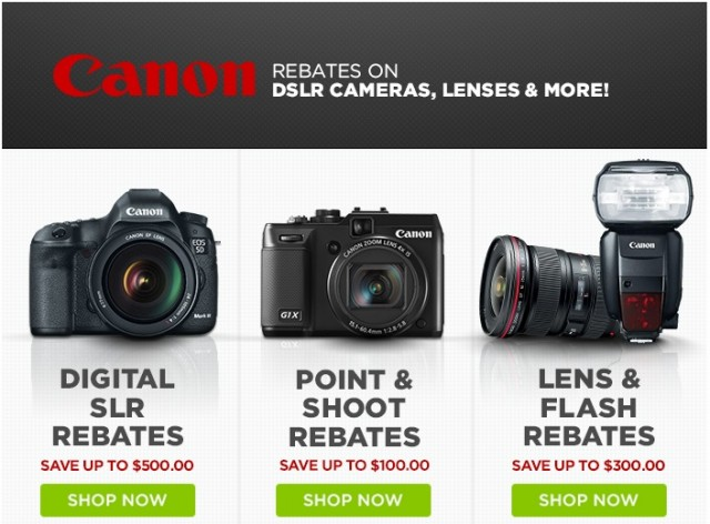 Canon Rebates