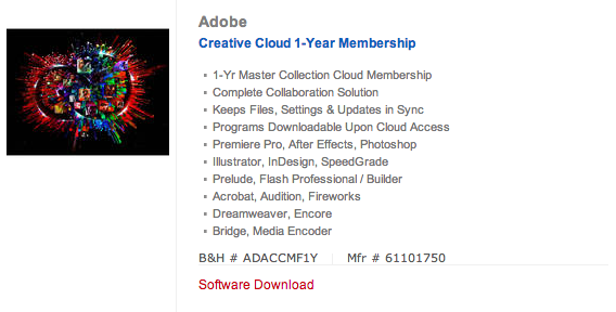 Creative Cloud at BH Photo