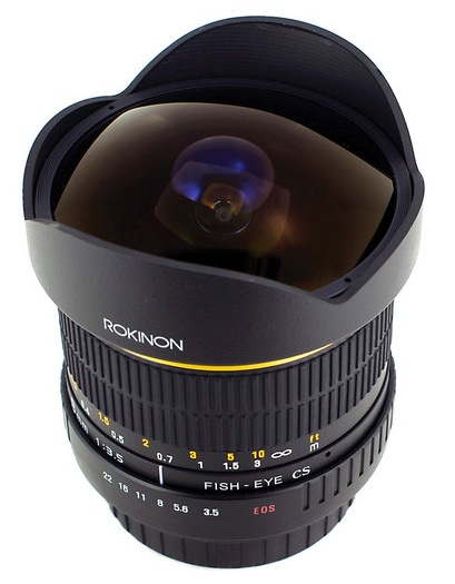 Rokinon 8mm Fisheye Lens