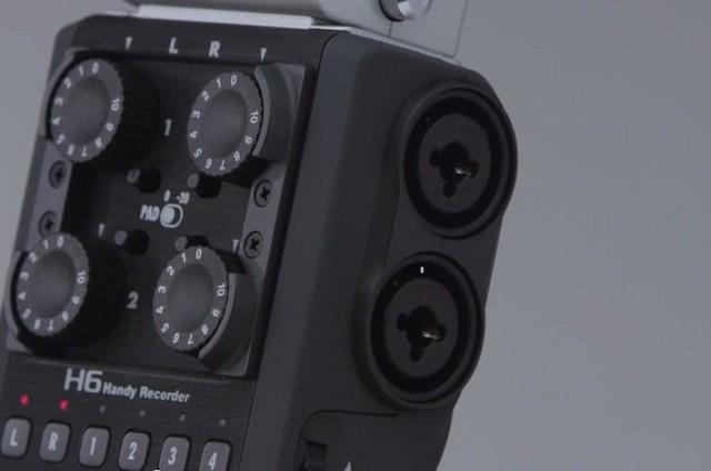 Zoom H6 XLR Inputs