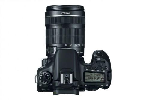 Canon 70D Top