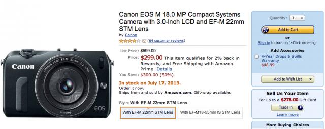Canon EOS M Deal