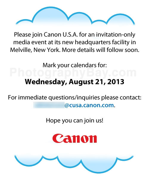 Canon Media Event August