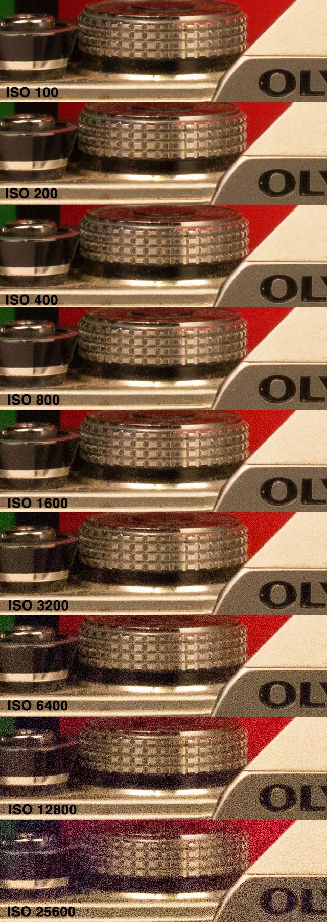 Canon T5i ISO Chart