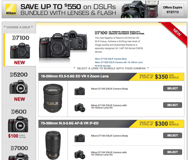 Nikon DSLR Bundle Rebates