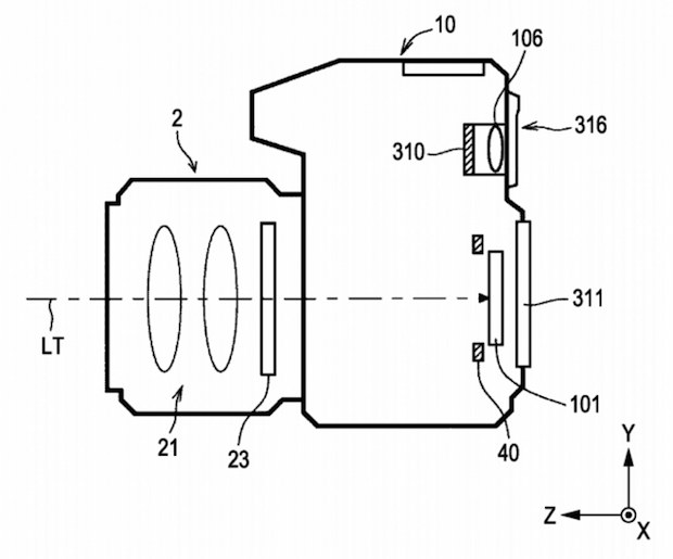 Sony Mirrorless Patent Diagram