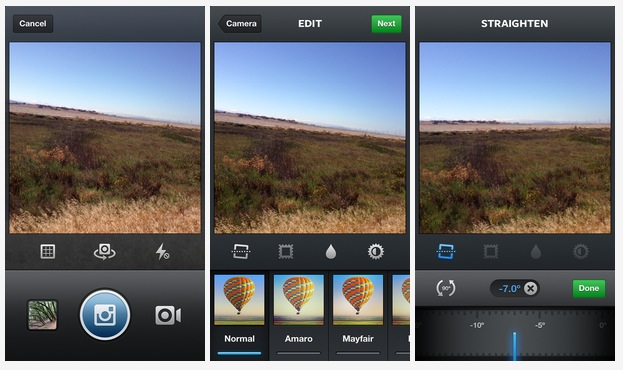 Instagram Straighten Tool