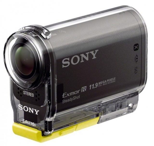 Sony HDR-AS30V in Waterproof Case