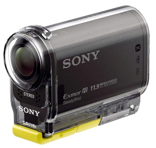 Sony HDR-AS30V in Waterproof Case