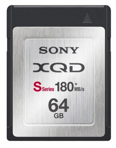 Sony XQD S-Series at 180MBs