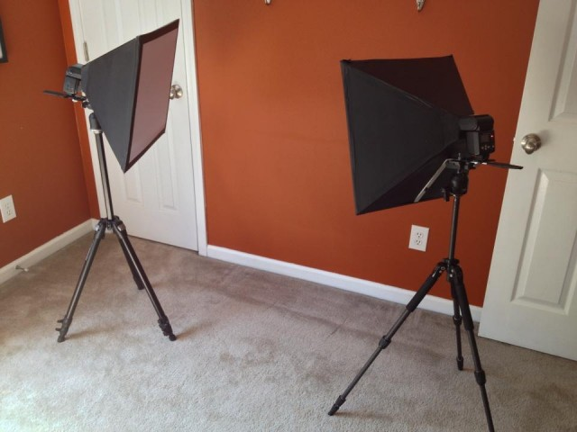 5 completed softboxes
