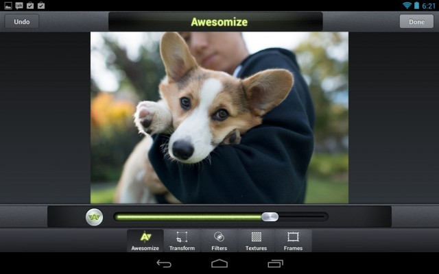 Camera Awesome Edit Screen