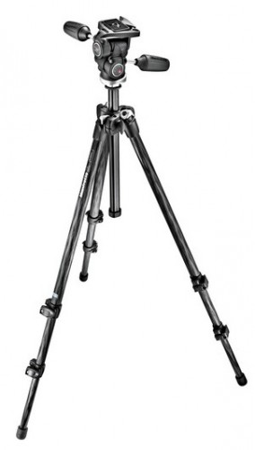 Manfrotto 294 Carbon Fiber Tripod With 3-Way QR Head